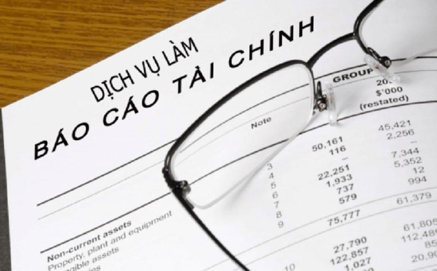 Chi phí dịch vụ làm báo cáo tài chính tùy thuộc từng nhóm ngành