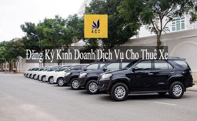 Đăng ký kinh doanh dịch vụ cho thuê xe