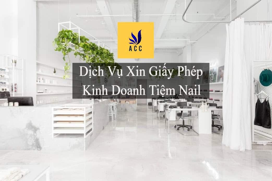 Giấy phép kinh doanh tiệm Nail