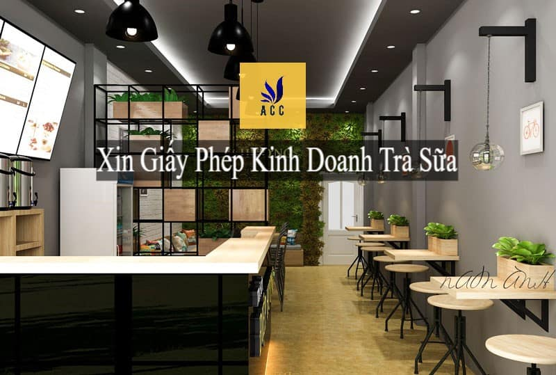 Xin giấy phép kinh doanh trà sữa