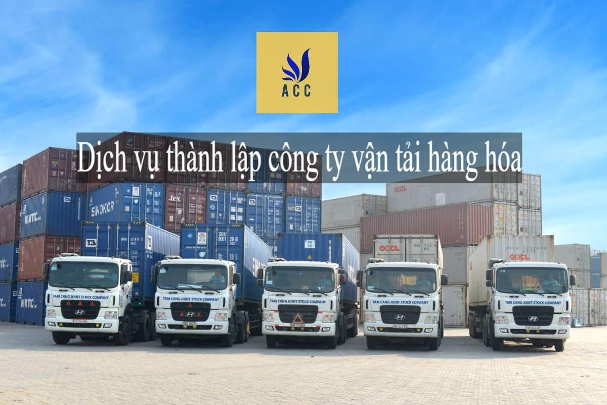 Xin giấy phép kinh doanh vận tải hàng hóa