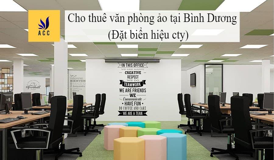 Cho thuê văn phòng ảo tại Bình Dương