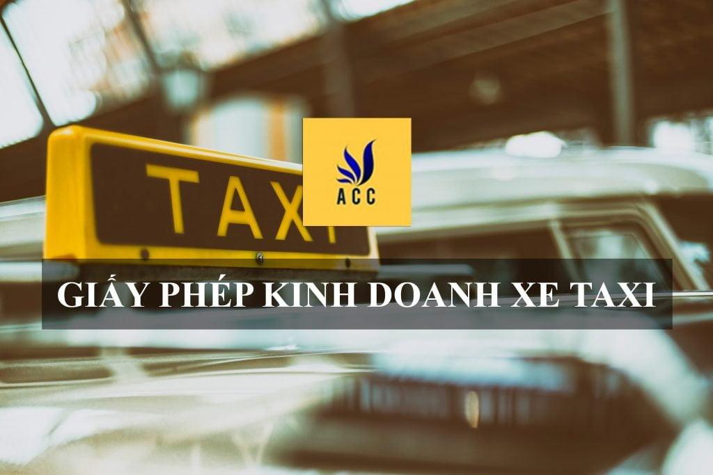 giấy phép kinh doanh xe taxi