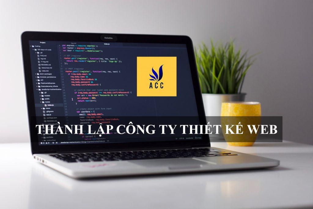 Thành lập công ty thiết kế web