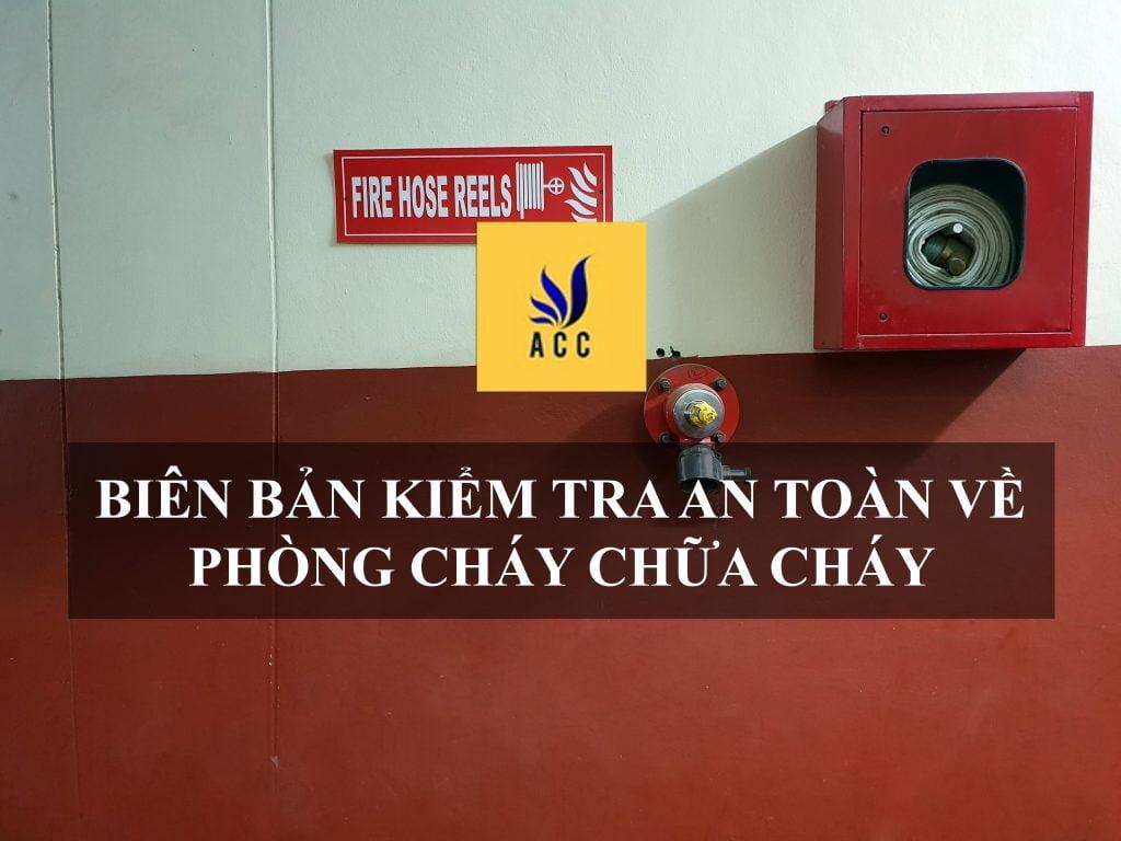 biên bản kiểm tra an toàn về phòng cháy chữa cháy
