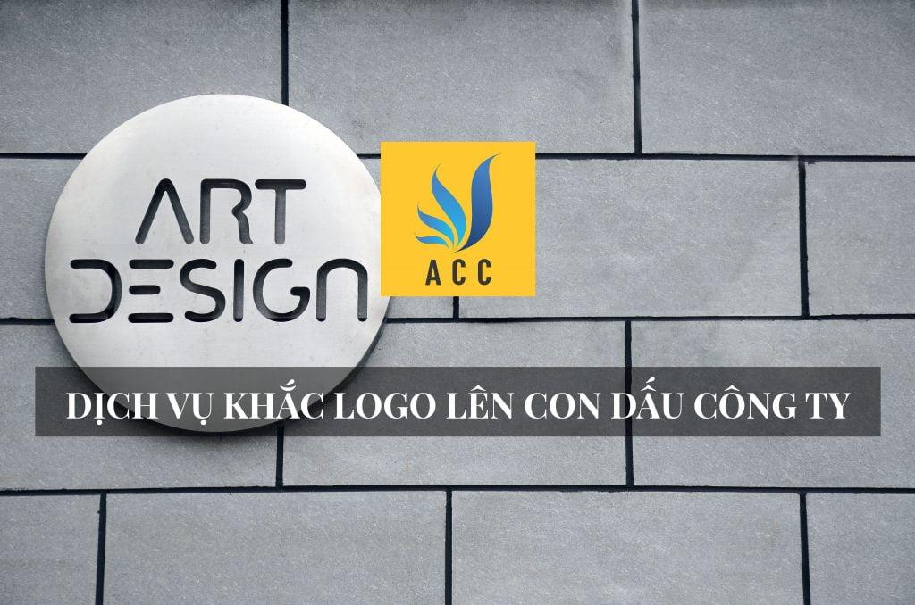 Khắc logo lên con dấu công ty