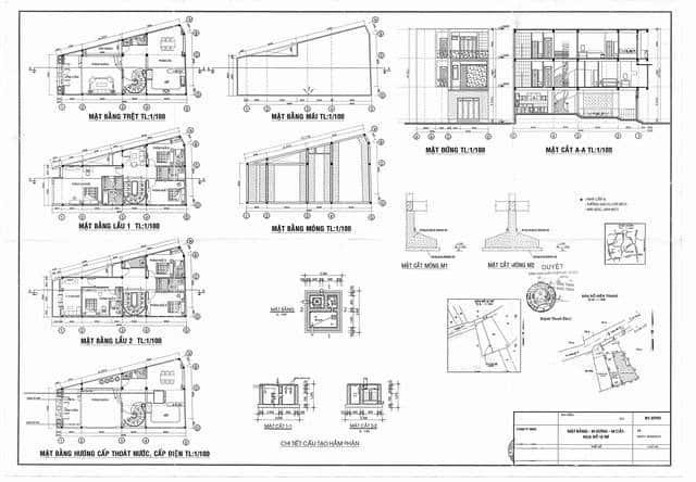 Bản vẽ xin giấy phép xây dựng nhà cấp 4