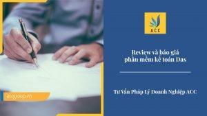 review và báo giá phần mềm kế toán Das