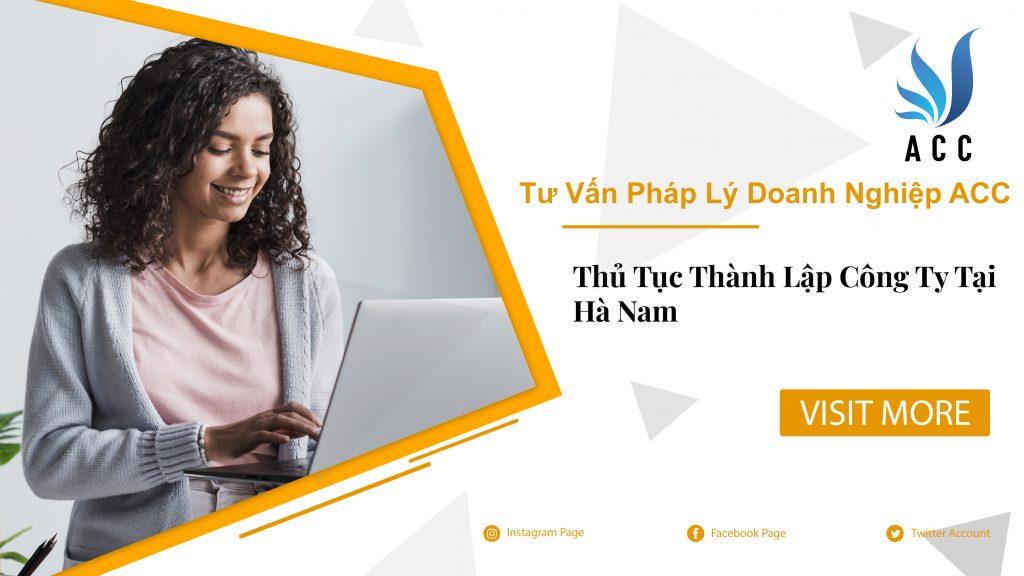Thủ tục thành lập công ty tại Hà Nam (trọn gói)