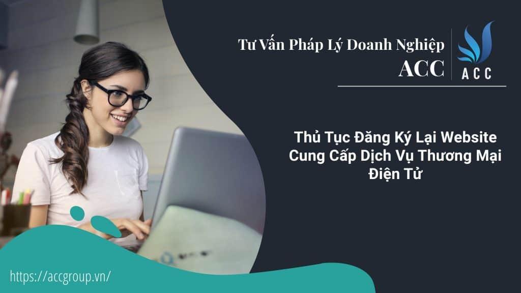 Thủ Tục Đăng Ký Lại Website Cung Cấp Dịch Vụ Thương Mại Điện Tử