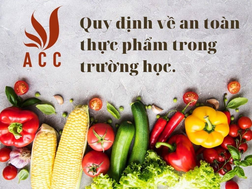Quy định về an toàn thực phẩm trong trường học