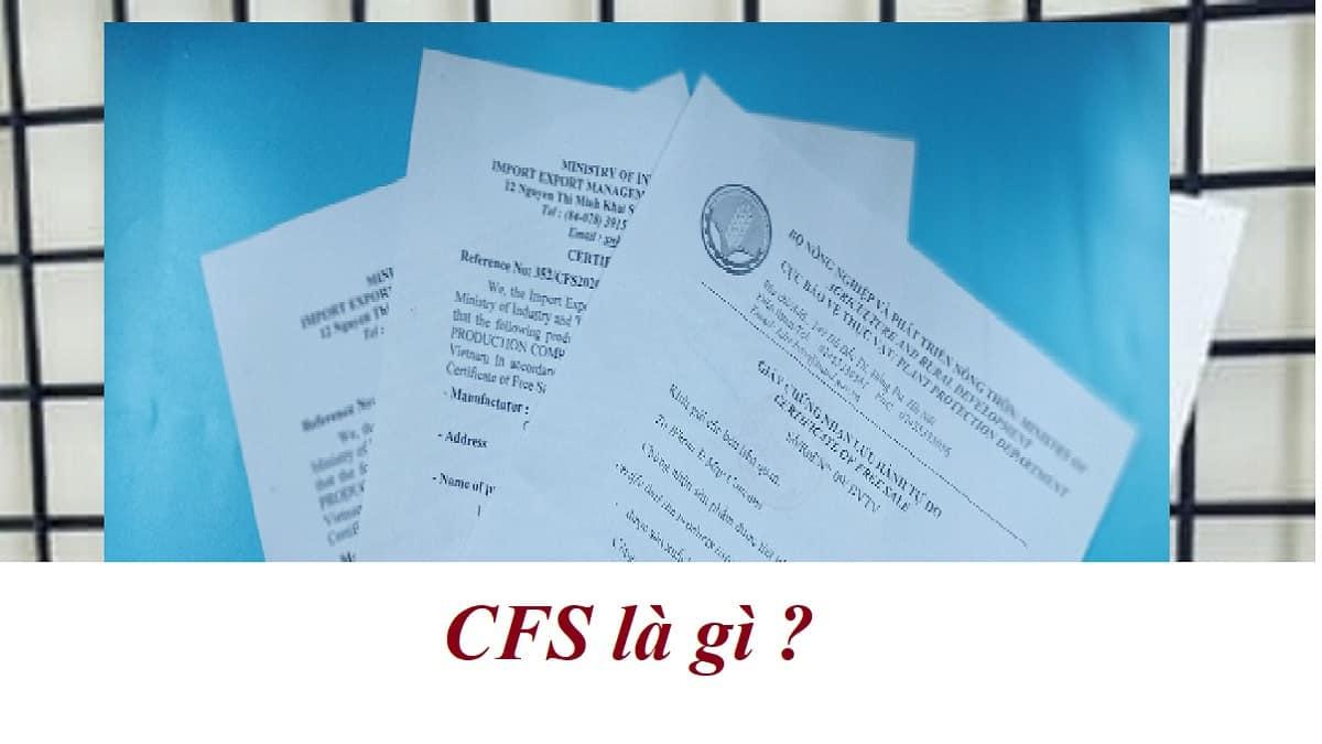 giay chung nhan luu hanh tu do cfs Certificate of Free Sale san pham 1
